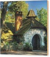 Cottage - The Little Cottage Wood Print