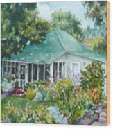 Cottage At Chautauqua Wood Print