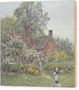 Cottage At Chiddingfold Wood Print