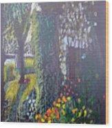 Cottage Flowers Wood Print