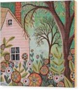 Cottage Garden 1 Wood Print