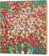 Cottage Garden Flowers Wood Print