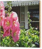 Cottage Garden.  Wood Print