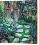 Cottage Gates Wood Print