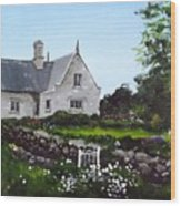 Cottage, Graiguenamanagh Wood Print