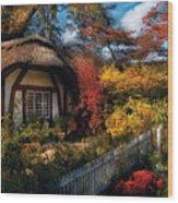 Cottage - Grannies Cottage Wood Print by Mike Savad