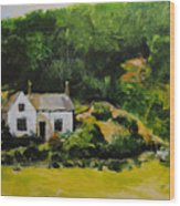 Cottage In Wales Wood Print