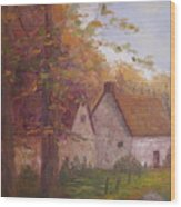 Cottage On The Moors Wood Print