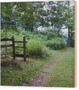 Cottage Path Wood Print