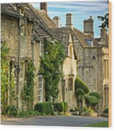Cottage Row - Burford Wood Print