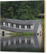 Cottage Sinking In The Rideau Canal Wood Print