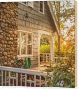 Cottage Sunset In Deep Cove, Nova Scotia Wood Print