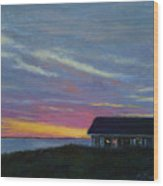 Cottage With A View Wood Print
