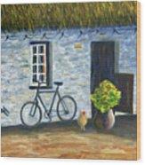 Cottage Life Wood Print