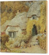 Cottages At Selworthy, Somerset Wood Print