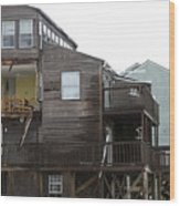 Cottages Of The Past Wood Print