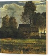 Cottages On The Dachau Marsh 1902 Wood Print