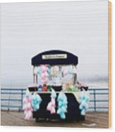 Cotton Candy Carousel- By Linda Woods Wood Print