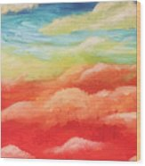 Cotton Candy Dreams Wood Print