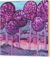 Cotton Candy Forest Wood Print
