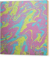Cotton Candy Wood Print