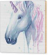 Cotton Candy Unicorn Wood Print