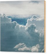 Cotton Clouds Wood Print
