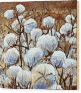 Cotton Fields Wood Print
