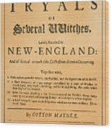 Cotton Mather, 1693 Wood Print