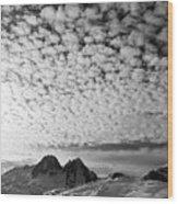 Cotton Sky Chamonix France Wood Print