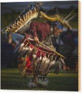 Grass Dancer Wood Print