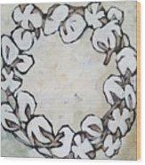 Cotton Wreath Wood Print
