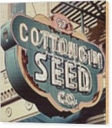 Cottongim Seed Wood Print