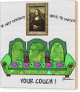 Couch Art Wood Print