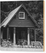 Cougar Rock Gas Station Wood Print