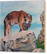 Cougars Wood Print