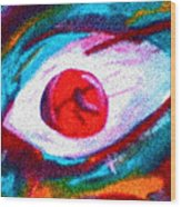 Cought In Her Eye Wood Print