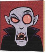 Count Dracula Wood Print