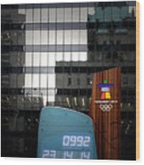 Countdown Clock Olympic Winter Games Vancouver Bc Canada 2010 Wood Print