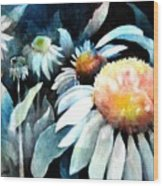 Counting Coneflowers Wood Print