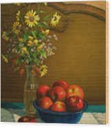 Country Apples Wood Print