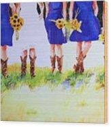 Country Bride Wood Print