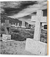 Country Cemetery Wood Print