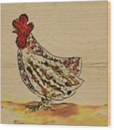 Country Chicken Wood Print