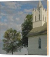 Country Chuch Wood Print