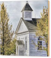 Country Church At Old World Wisconsin Wood Print