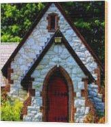 Country Church Wood Print