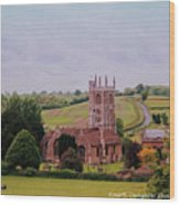 Country Church Wadsworth, England Wood Print