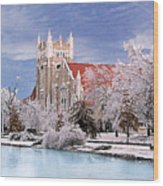 Country Club Christian Church Wood Print