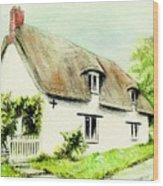 Country Cottage England  Wood Print